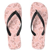 cherry blossom on peach flip flops | Zazzle.co.uk
