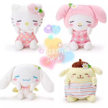 My Melody Pudding Cinnamoroll Dog Hello Kitty Cat Egg Yolk penguin Chrysanthemum Plush Toy Soft Stuffed Animals Doll for Gifts