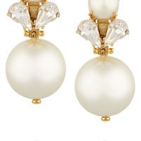 Lele Sadoughi - Gold-plated faux pearl and crystal earrings
