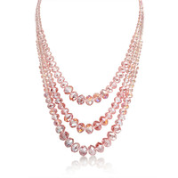 Bling Jewelry Triple Pink Necklace