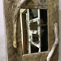 BoGaLeCo.com / Decorative objects / driftwood / Frame / Wooden square mirror