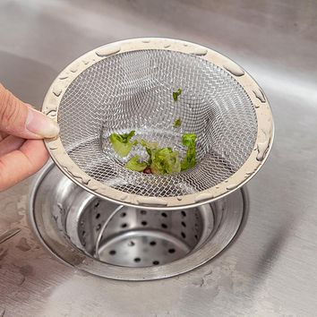 Sink Strainers Stainless Steel Kitchen Mesh Filtro Basket Drain Protector Colanders Dropshipping Aug24