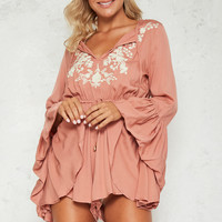 Mysterious Oracle Playsuit Rose