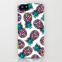 PINEAPPLES iPhone & iPod Case by Y.COH