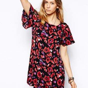 Flynn Skye Angel Back Dress in Techno Flower Print - Techno flower