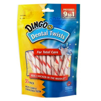 Dingo Dental Twists For Total Care Real Chicken Dog Treat 35 Pack