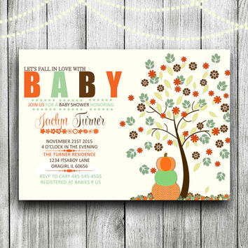 Baby shower invitation Baby shower invitation Fall baby shower invitation Printable Fall gender neutral Fall baby shower pumpkin baby shower