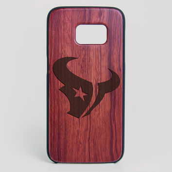 Houston Texans Galaxy S7 Edge Case - All Wood Everything