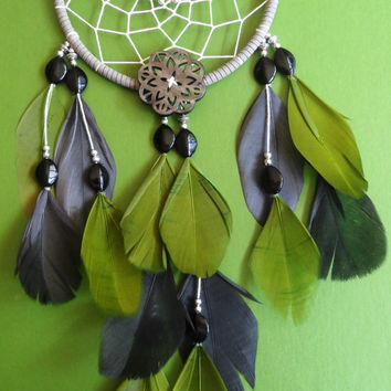Dream Catcher - Green and Gray - Modern - Bohemian