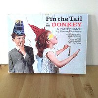 Pin the Tail on the Donkey {1960s} Vintage Game
