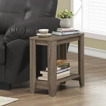 Dark Taupe Reclaimed-Look Accent Side Table
