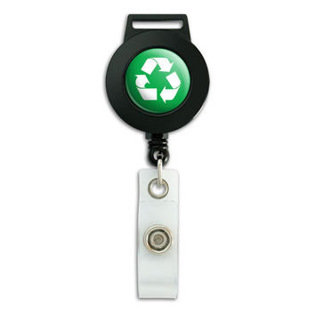 Recycle Green Retractable Badge Card ID Holder