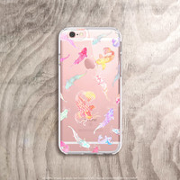 iPhone 6S Case Clear Koi iPhone 6S Plus Case Kawaii Clear iPhone Case Oriental iPhone Case Clear Samsung Note 5 Case Japanese Watercolor