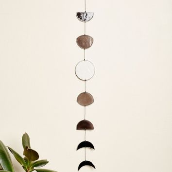 Faux Glass Moon Phase Mobile