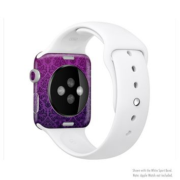 The Purple Delicate Foliage Pattern Full-Body Skin Set for the Apple Watch