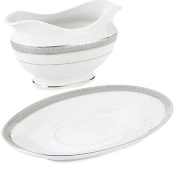 Mikasa Platinum Crown Gravy Boat with Stand | macys.com