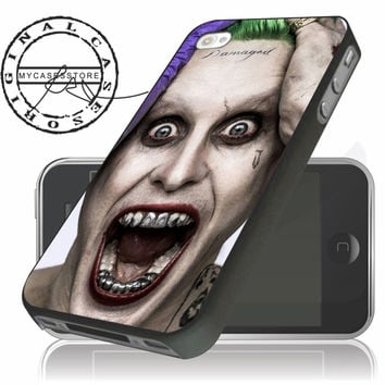 suicide squad joker jared leto iPhone 4s iPhone 5 iPhone 5s iPhone 6 case, Samsung s3 Samsung s4 Samsung s5 note 3 note 4 case, Htc One Case