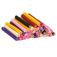 50pcs Cute 3D Design Nail Art Nailart Manicure Plum Flower Shaped Fimo Canes Sticks Rods Stickers Gel Tips Decoration