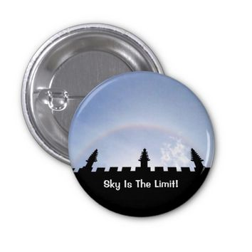 Motivational Sky Is The Limit Sun Halo Over Oxford 1 Inch Round Button