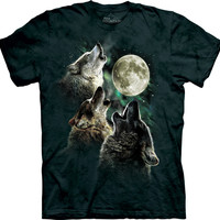 Three Wolf Moon Men's Big Face T-Shirt