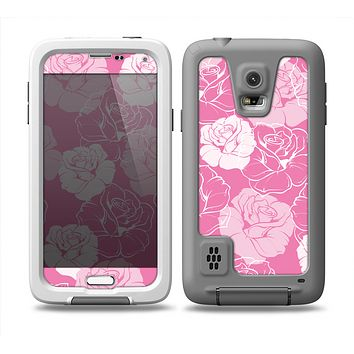 The Subtle Pinks Rose Pattern V3 Skin Samsung Galaxy S5 frē LifeProof Case