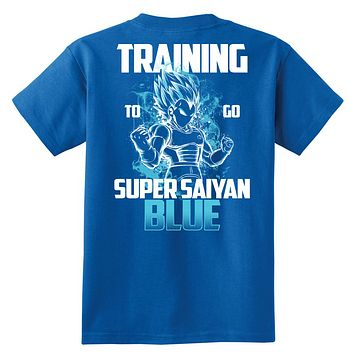 Super Saiyan - Vegeta God Blue Training - Youth Kid T Shirt - TL00880YS
