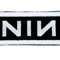 Nine Inch Nails Patch Iron on Applique Dark Alternative Clothing Trent Reznor NIN
