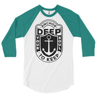 Anchor Deep 3/4 sleeve raglan shirt