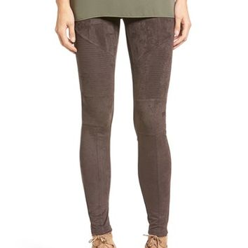 Sun & Shadow Faux Suede Leggings | Nordstrom