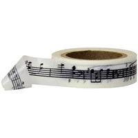 Black Music Notes Washi Tape