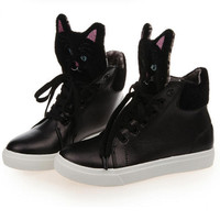Cat Head High-Top Shoes