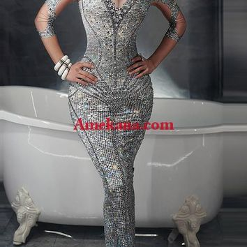 Eye Candy Diamante Evening Dress