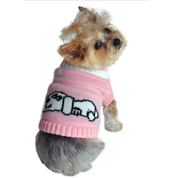 Pink Dreaming Dog Sweater