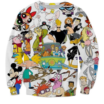 All 90's Cartoon Network Tv shows Sweater 💯😈🔥