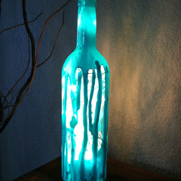 Designs By KKay On Wanelo Gorgeous Decorated Wine Bottles With Lights Inside