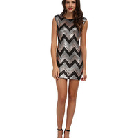 Gabriella Rocha Sequin Chevron Sheath Dress