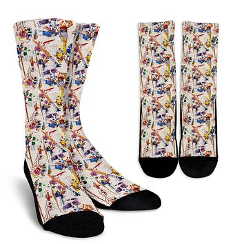 Wildflower Artist Socks