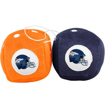 Denver Broncos Official NFL Fuzzy Dice