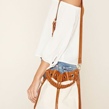 Two-Tone Bucket Bag
