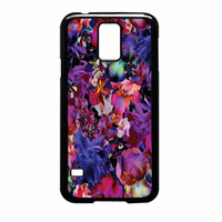 Lush Floral Pattern Beaming Orchid Purple Samsung Galaxy S5 Case