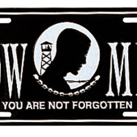 License Plate - POW/MIA