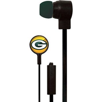 Green Bay Packers Stereo Earbuds by Mizco