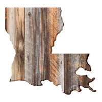 Louisiana Faux Wooden wall decal