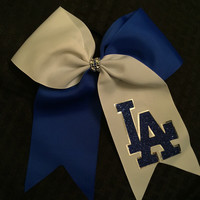 LA Dodger Hair Bow