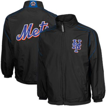 Majestic New York Mets Youth Elevation Jacket - Black - http://www.shareasale.com/m-pr.cfm?merchantID=7124&userID=1042934&productID=555874749 / New York Mets