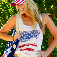 AMERICAN ART TANK IN WHITE