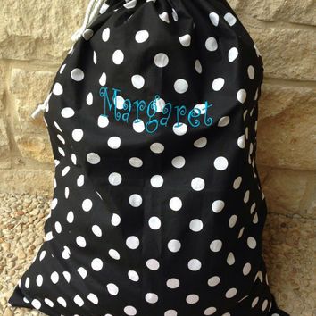 "Personalized, Washable Extra Large Laundry Bags (27""x 36"")"