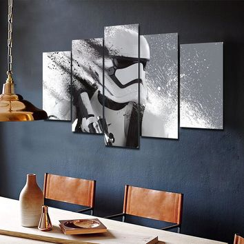 Print Stormtrooper Star Wars movie poster painting modern home decor wall art picture print oil Painting on canvas art