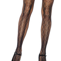 Scalloped Vintage Lace Reversible Pantyhose