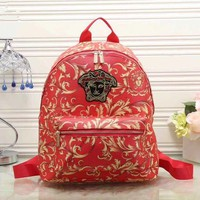 Versace Women Casual School Bag  Backpack Red